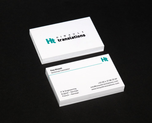 Hinault translations Visitenkarten