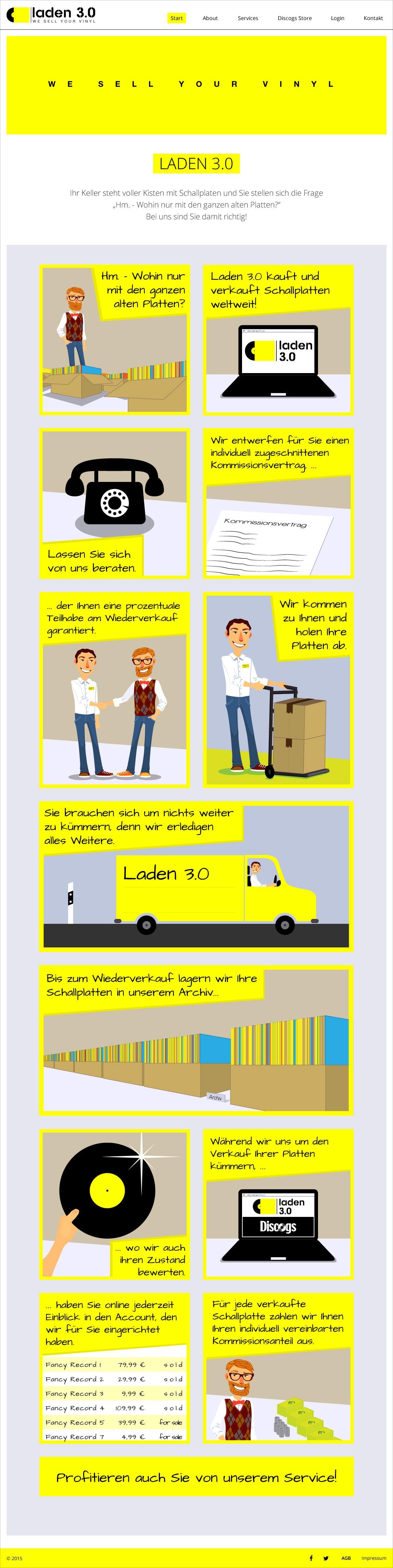 Laden 3.0 Webseite Startseite Webdesign Gesa Siebert Kommunikationsdesign