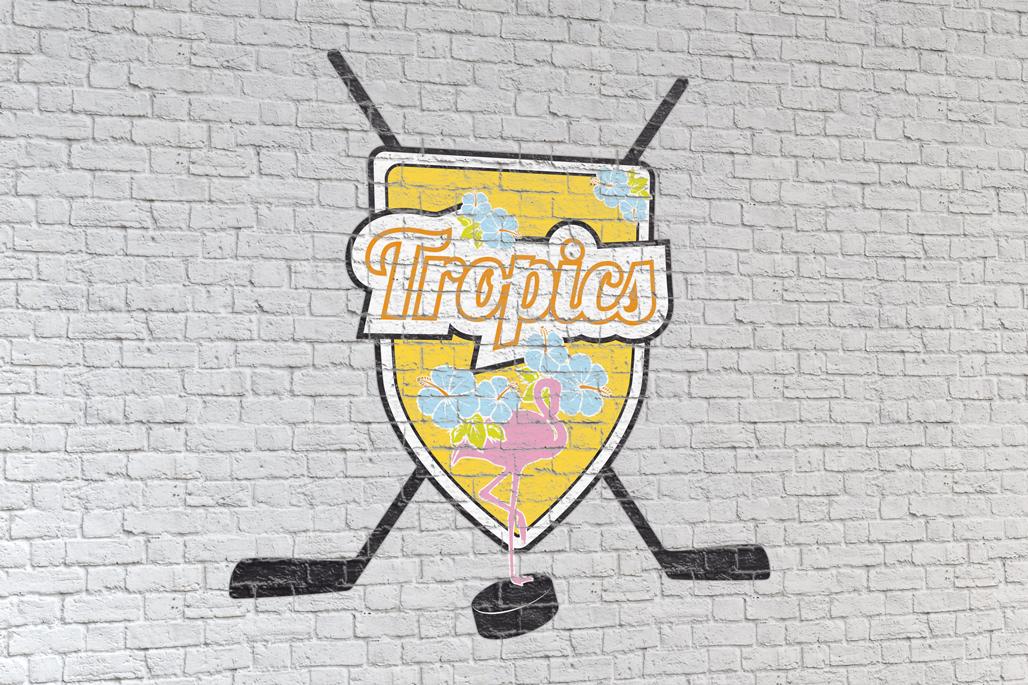 Tropics Wall Eishockey Emblem Logo Brand Design Gesa Siebert Kommunikationsdesign