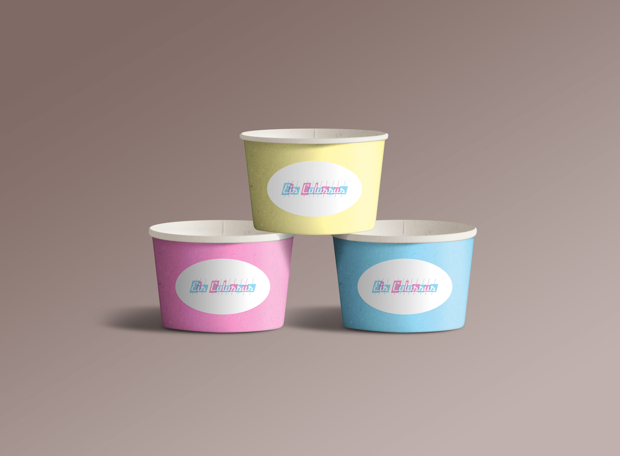 Eis Colossus Eisbecher Corporate Design Packaging Gesa Siebert Kommunikationsdesign