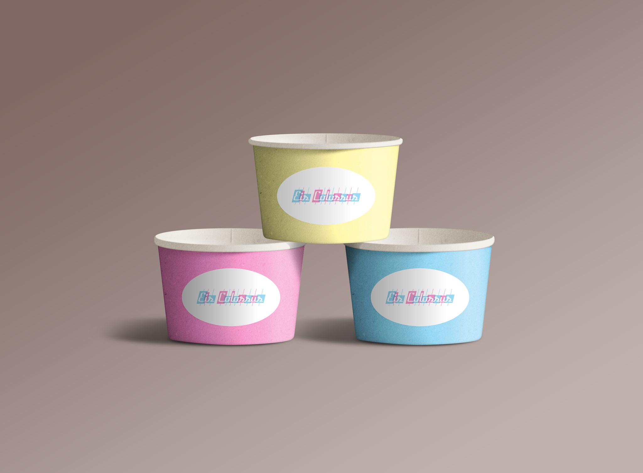 Eis Colossus Eisbecher Corporate Design Packaging Gesa Siebert Kommunikationsdesign
