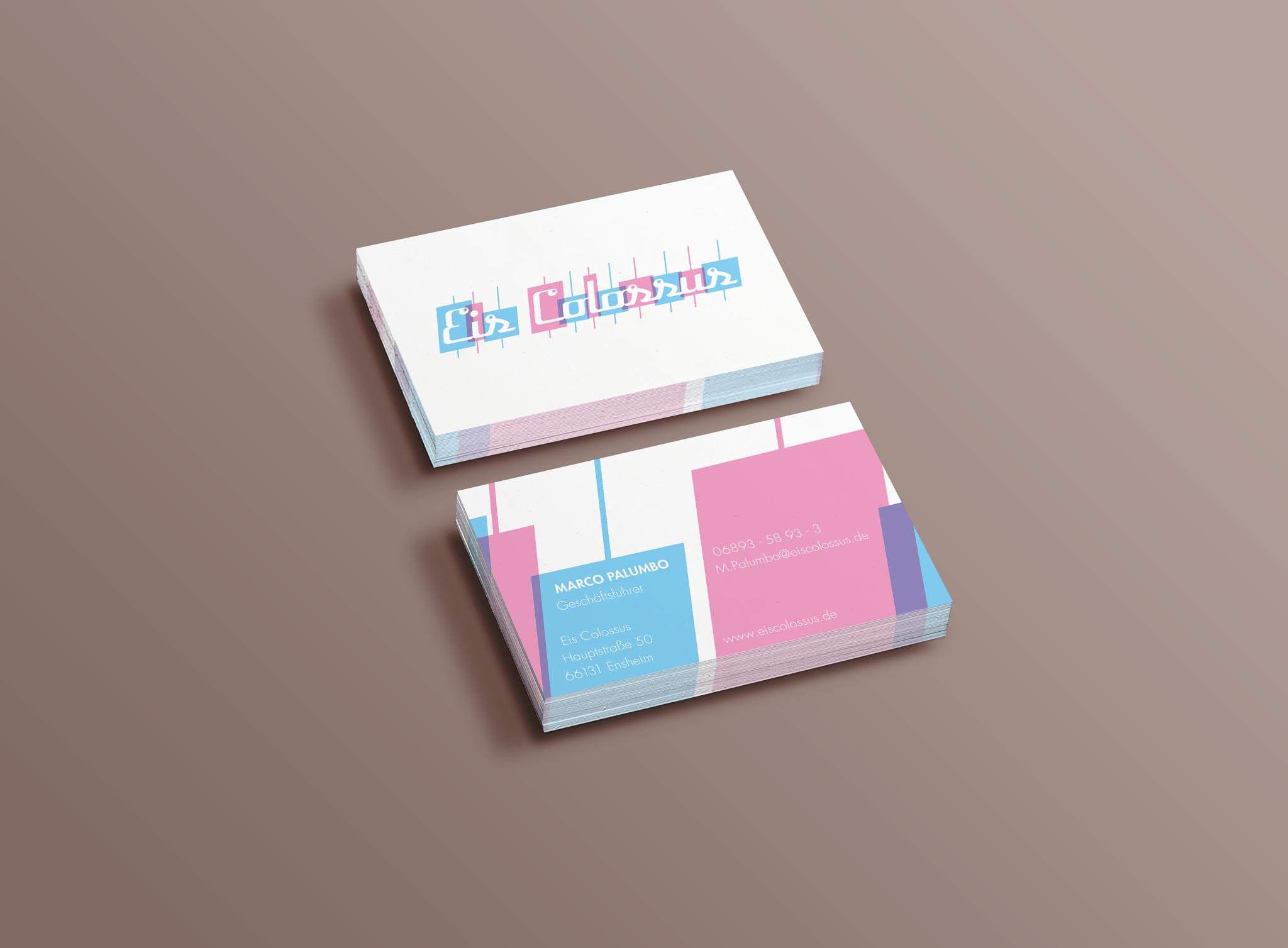 Eis Colossus Corporate Design Visitenkarte Gesa Siebert Kommunikationsdesign