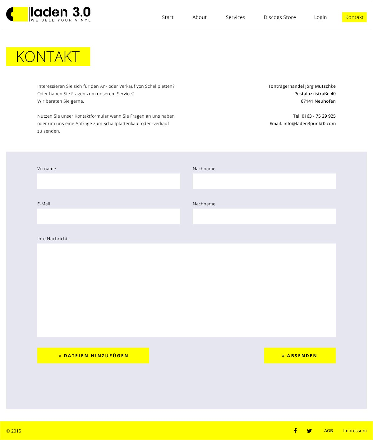 Laden 3.0 Webseite Kontakt Webdesign Gesa Siebert Kommunikationsdesign