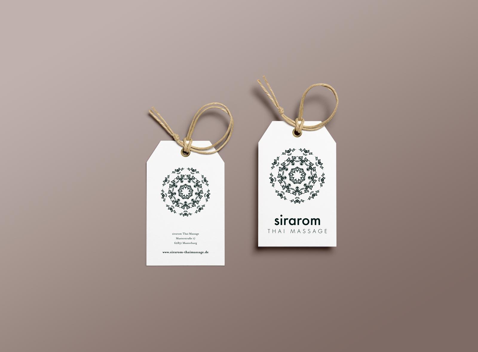 sirarom Thai Massage Label Packaging Etiketten Gesa Siebert Kommunikationsdesign