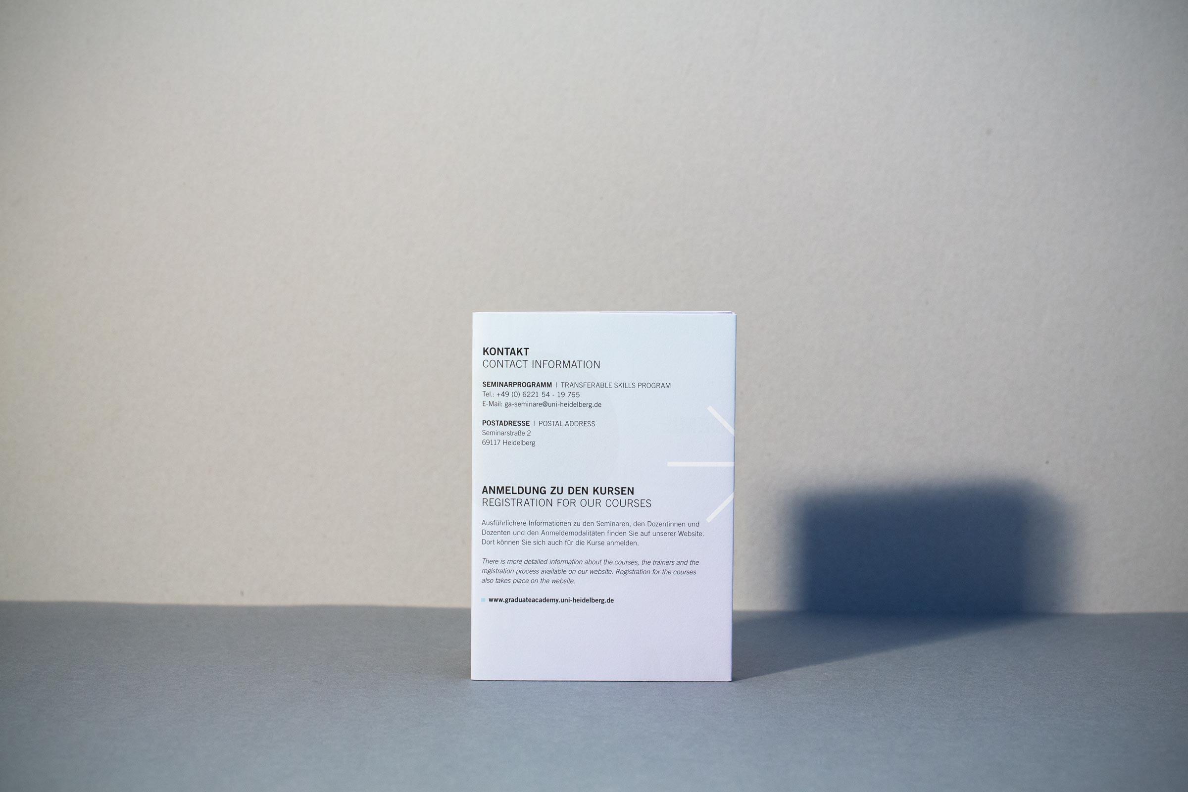 Gesa Siebert Kommunikationsdesign Graduiertenakademie Universität Heidelberg Flyer Faltflyer Plakat Illustration Seminarprogramm Wintersemester 2019/2020 Rückseite