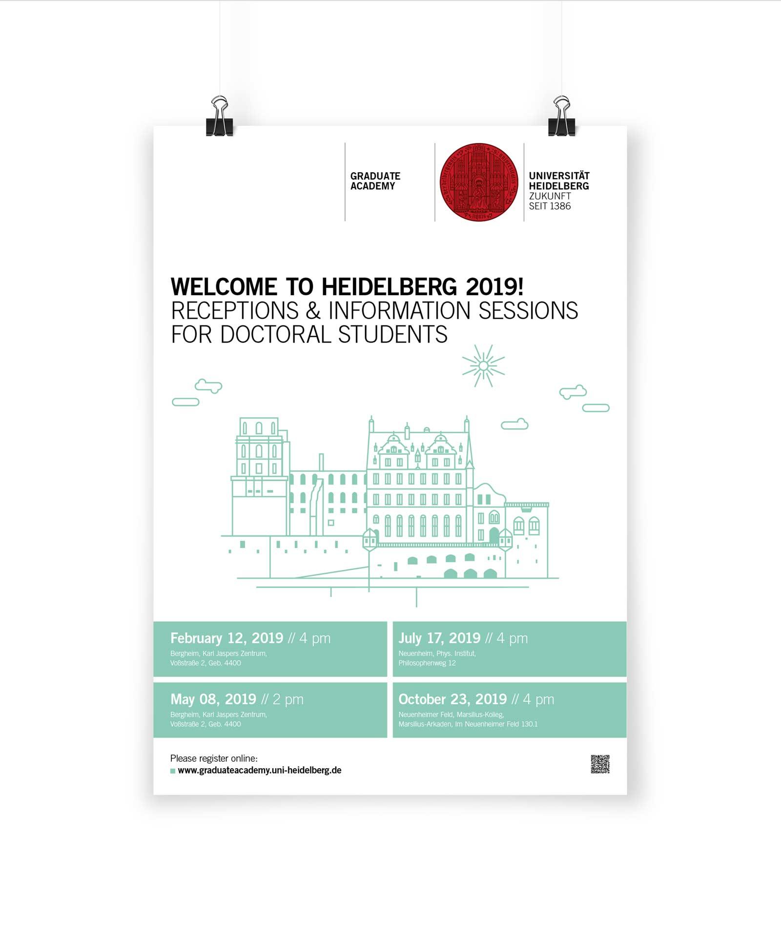 Gesa Siebert Kommunikationsdesign Graduiertenakademie Universität Heidelberg Plakat Poster Veranstaltungsplakat Illustration