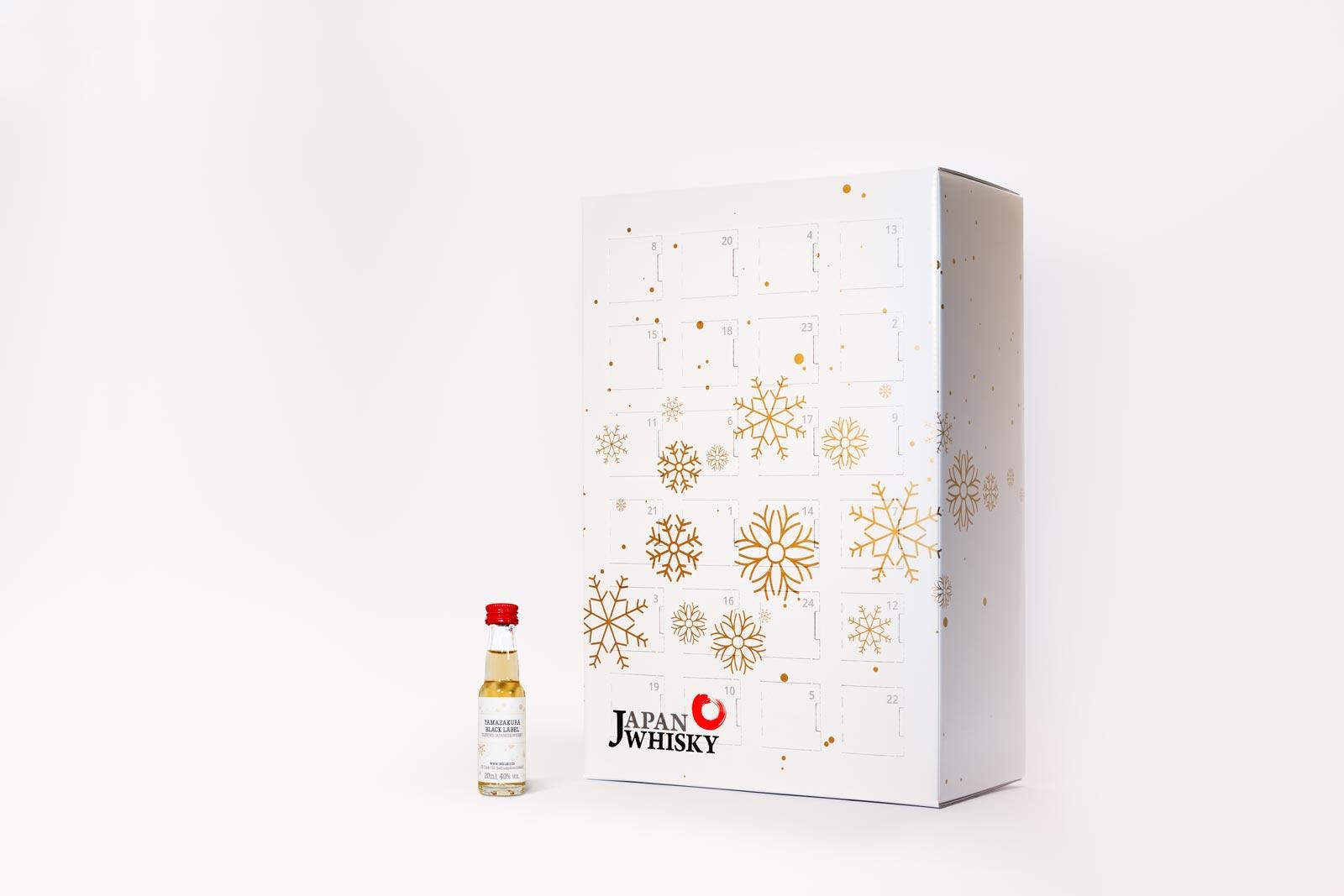 Gesa Siebert Kommunikationsdesign JWhisky Weihnachtskalender 2017 Sonderfarbe Pantone Gold